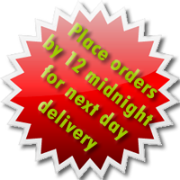 Order by 12 midnight for next day delivery